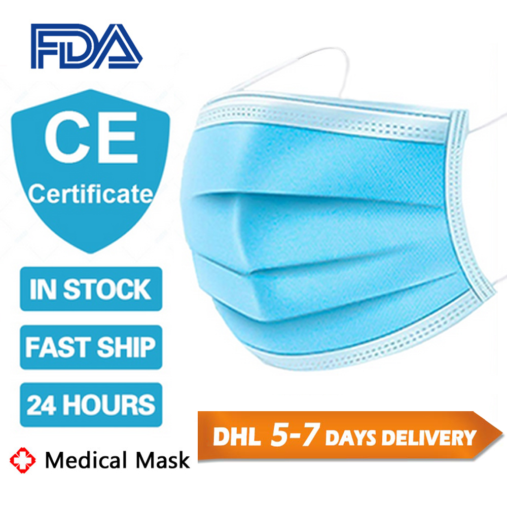 Disposable Medical Mask 3 Layers Face Masks Wearing Disposable Face Cover Comfortable Breath Mask