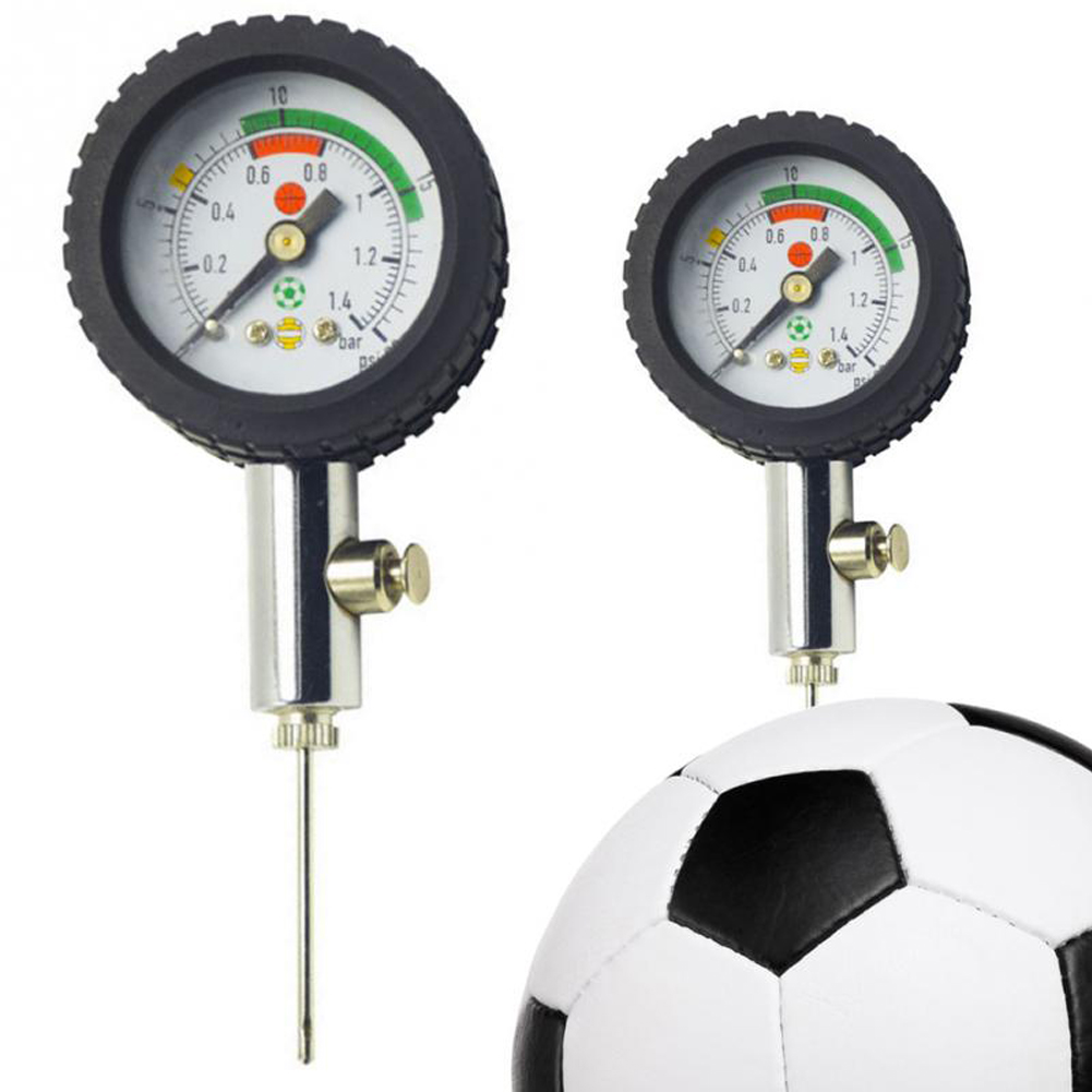 Soccer Ball Pressure Gauge Air Watch Football Volleyball Basketball Stainless Steel Barometers Team Sports Games