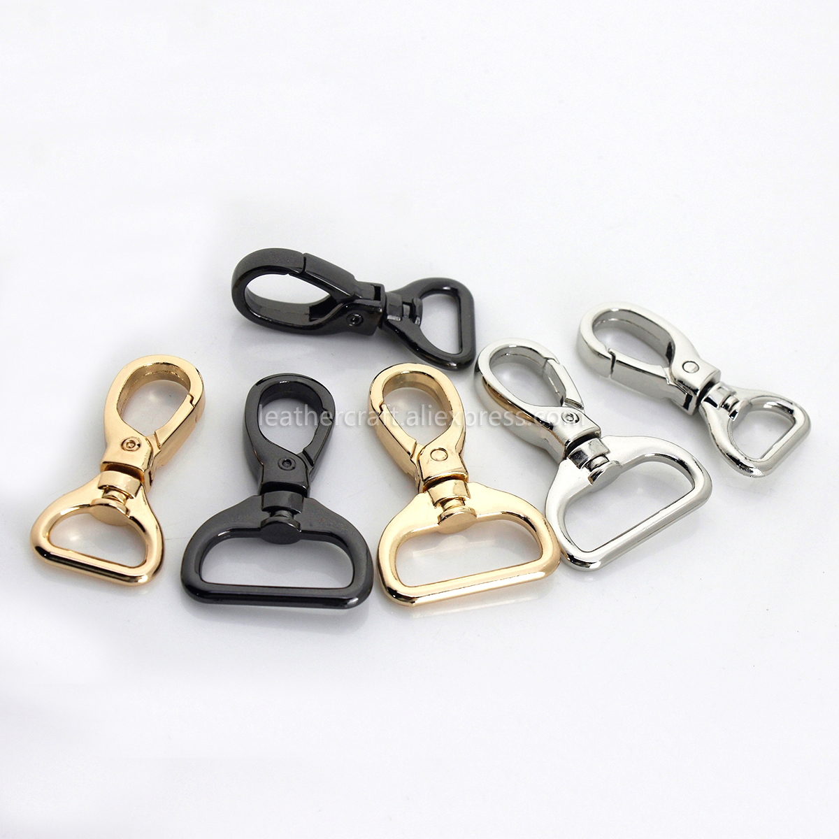 1pcs Metal 4 Sizes Snap Hook Trigger Lobster Clasps Clips Flat Bottom Spring Gate Leather Craft Pet Leash Bag Strap Belt Webbing