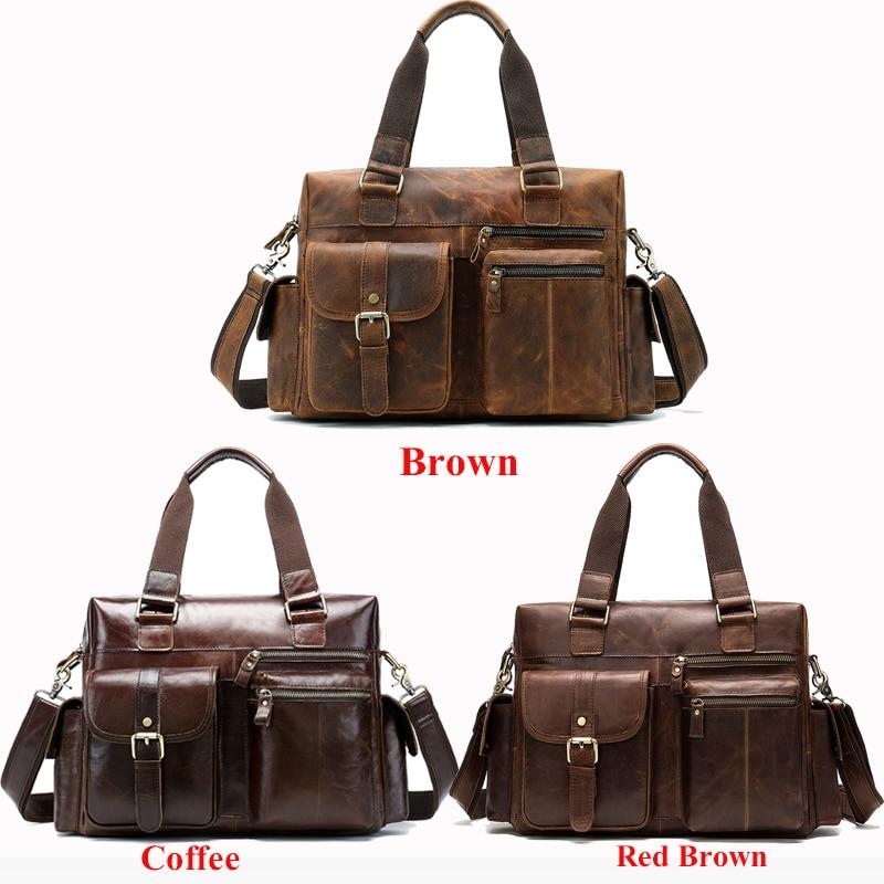 WESTAL sac de voyage bagage à main en cuir véritable sac de voyage pliable valise bagages Travelbags sacs de voyage grand/week end sacs 8537-in Voyage Sacs from Baggages et sacs    2
