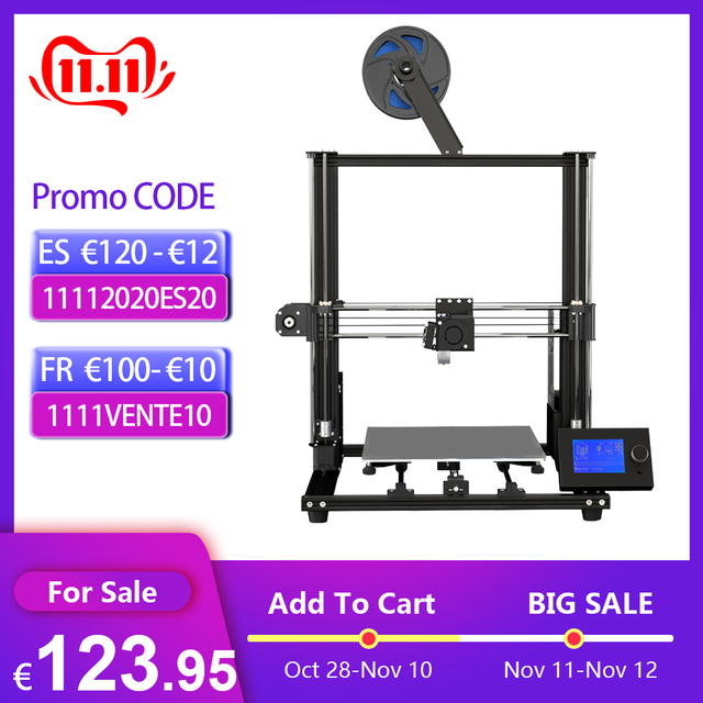 Anet A8 Plus Upgraded Desktop 3D Printer i3 DIY Kits Self Assembly Printing Size 300*300*350mm LCD Control Panel