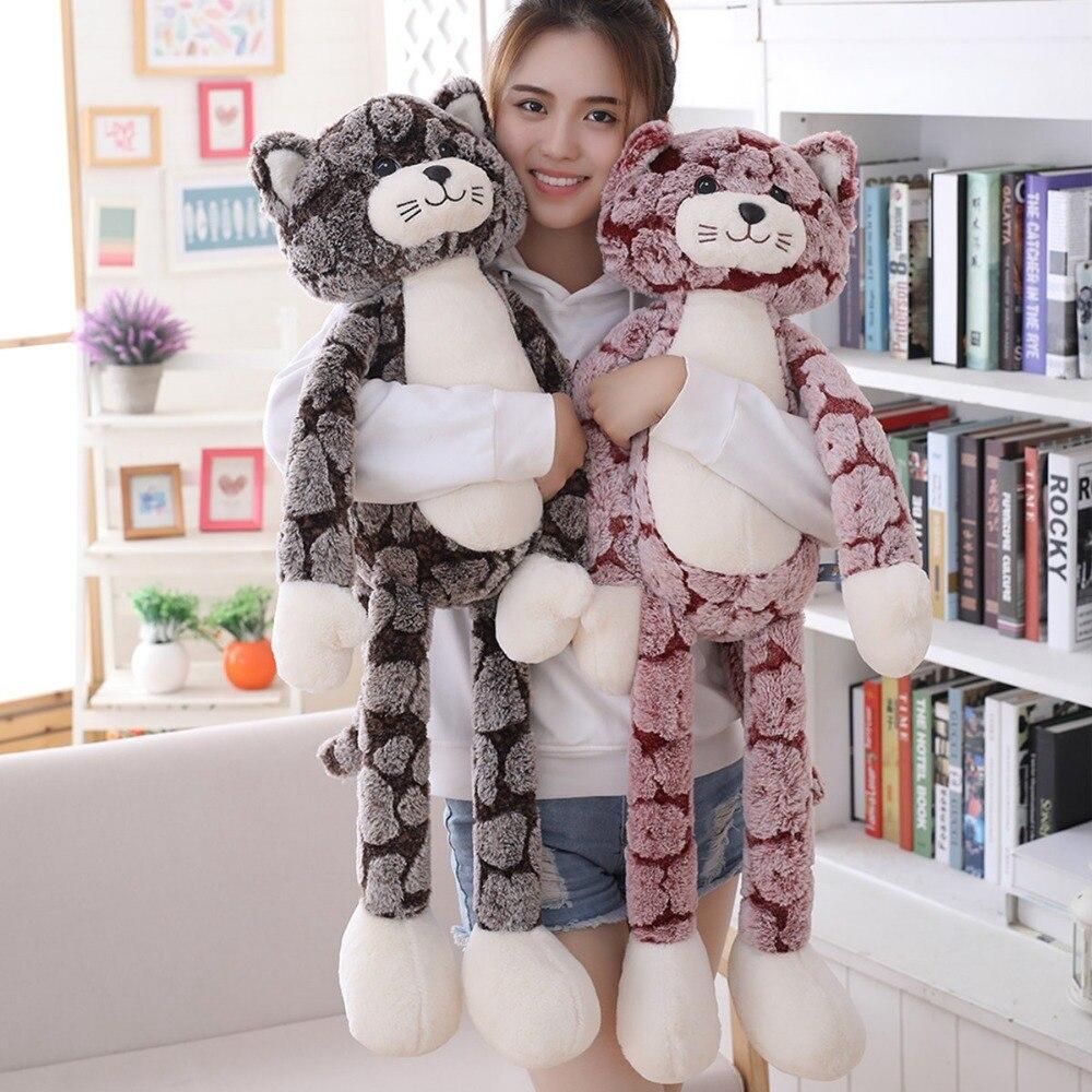 New Huggable Plush Toy Soft Cat Black Gray Cat Plush Toys Lovely Anime Birthday Chrismas Gift For Children Cat Doll Baby Doll