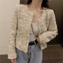 tweed Wool Women Blazer Loose Oversized Fashion Office Jackets Coats Casual Thin Female Winter Blazers Outerwear 2019 NEW S0089(China)
