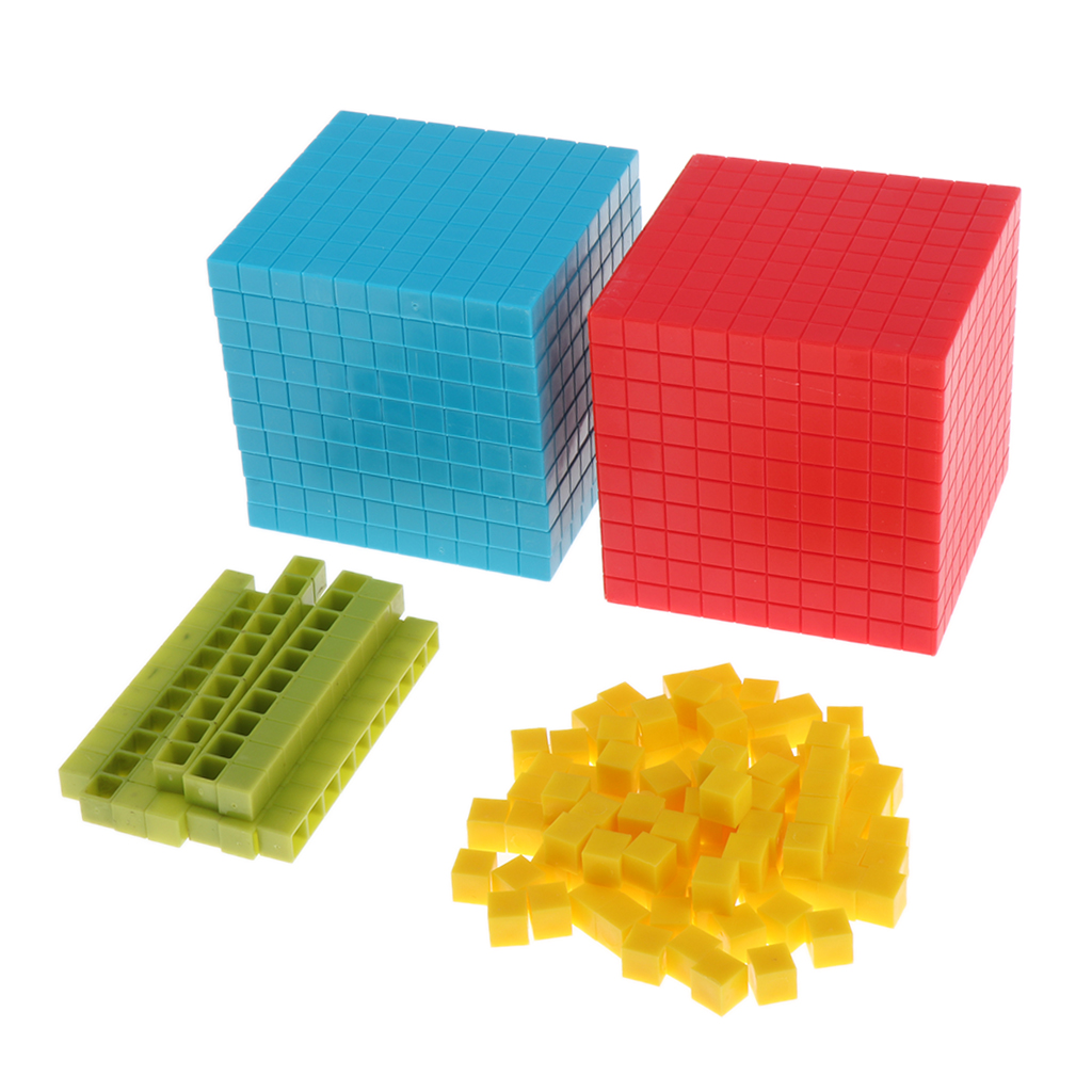 Plastic Learning Resources Base Ten Set - Decimal Group Early Educational Montessori Math Materials For Toddlers Preschool Kids