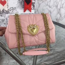 High quality genuine leather cowhide luxury golden heart handbag ladies 2021 new shoulder bag messenger bag