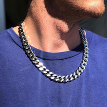 Lien cubain 3 à 7 Mm collier en acier inoxydable pour hommes bijoux ras du cou or noir en acier inoxydable collier cadeau de noël