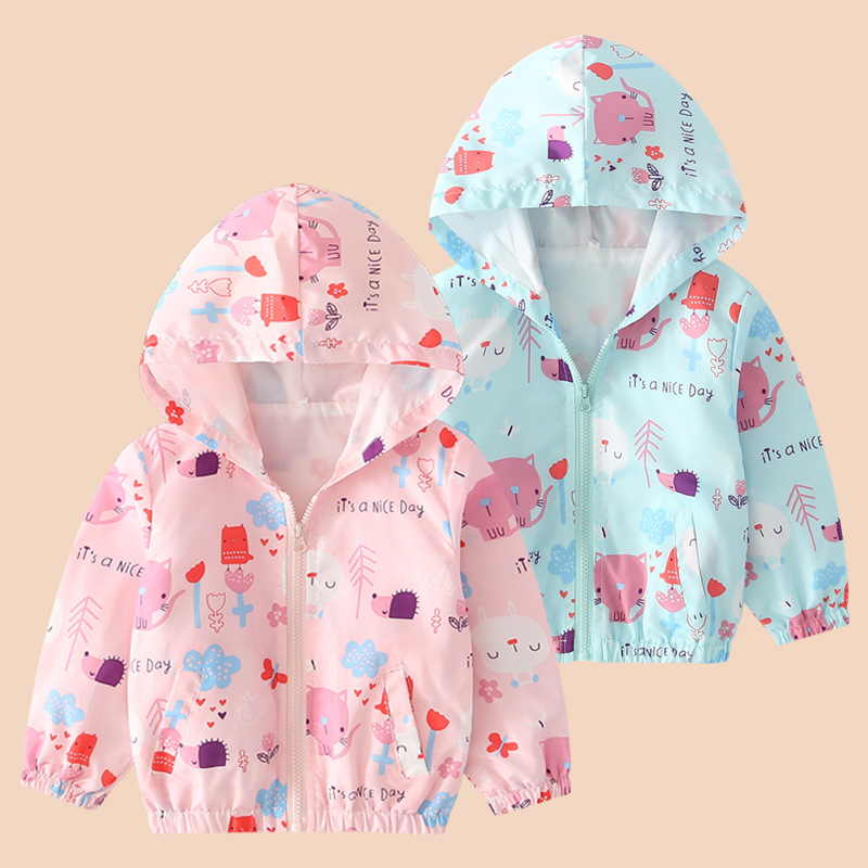 Girl'S Coat Spring And Autumn Days 2019 New Style Korean-style Cardigan CHILDREN'S Garment Baby Jacket Little Girl Tops Cartoon