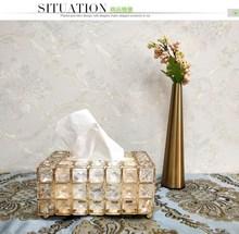 Crystal tissue box, drawer, creative napkin drawer, living room storage box, model room, car home