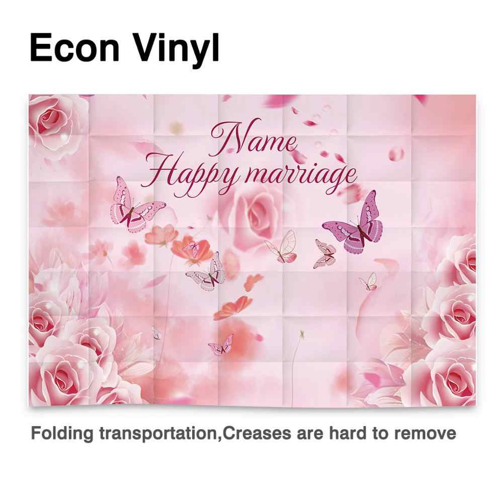 Allenjoy Lente Achtergrond Voor Foto Valentijn Dag Februari 14 Roze Rose Vlinder Bruiloft Achtergrond Photocall Photophone