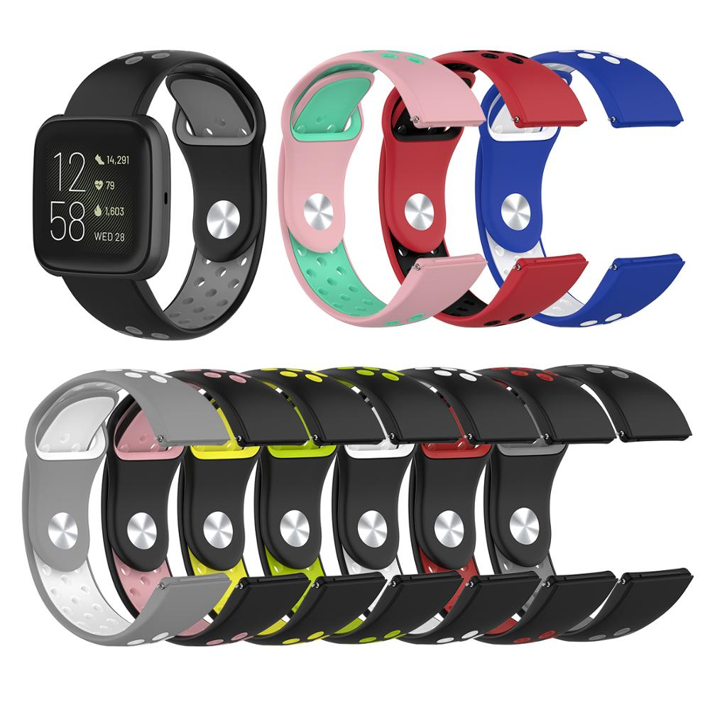 For Fitbit Versa Bands Replacement Silicone Band With Ventilation Holes For Fitbit Versa 2 LITE Quick Release Sport Watchband