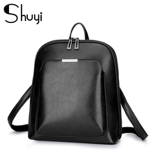 2020 Women Leather Backpacks For Girls Sac a Dos School Backpack Female Travel Shoulder Bagpack Ladies Casual Daypacks Mochilas 2019 classic women leather backpacks for girls sac a dos female backpack college travel bagpack ladies back pack mochilas girl