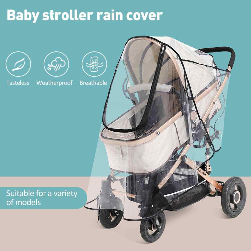 Stroller Accessories Cover Four Seasons Universal Baby Carriage Rain Cover Baby Carriage Transparent Raincoat Windproof Cover