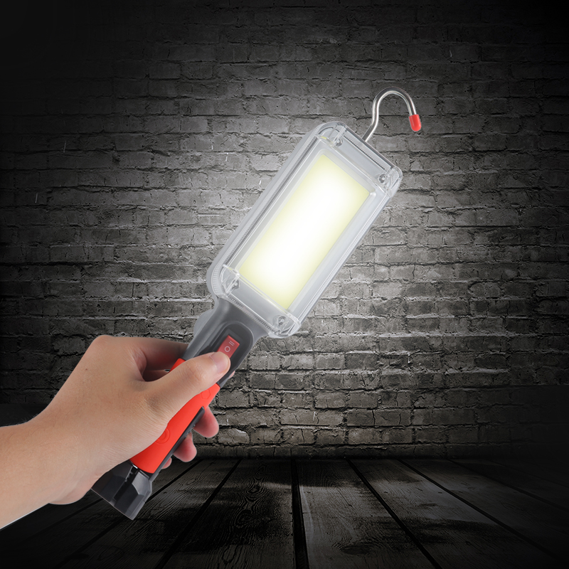 Светодиодный рабочий светильник COB USB Перезаряжаемые 7000 люмен вспышки ручки светильник крюк магнитные петли Портативный Рабочая Фонари на ...
