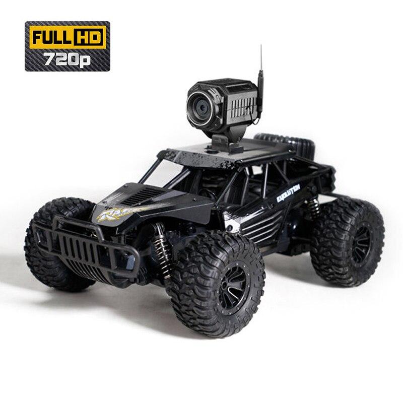 Oyuncaklar ve Hobi Ürünleri'ten RC Arabalar'de Yeni 2.4G 2WD yüksek hızlı FPV RC araba WiFi kamera HD 720P 2MP makinesi radyo uzaktan kumanda kapalı yol Carros oyuncak Boys için'da  Grup 3