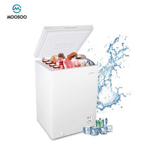 Moosoo peito freezer 3.5 pés cúbicos congelador profundo com cesta de armazenamento, 5 engrenagens controle de temperatura geladeira compacta, economia de energia