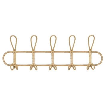 Large Rattan Wall Hooks Clothes Hat Hanging Hook Crochet Cloth Holder Organizer Hangers Decor for Home Decor