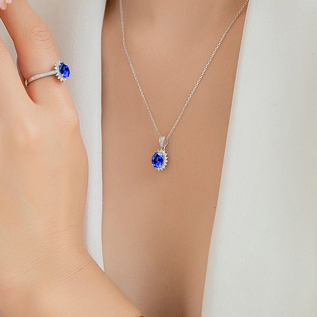 MAQ Natural sapphire 18K Pure Gold Pendant Real AU 750 Solid Gold  Upscale Trendy Classic Party Fine Jewelry Hot Sell New 2020