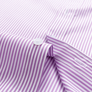 Image 5 - Mens Striped Printed Regular Fit Wrinkle Resistant Dress Shirts 100% Cotton Formal Business Long Sleeve Easy Care Shirt