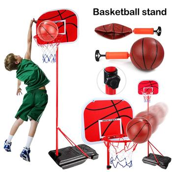 Adjustable Height Kids Children Toy Mini Basketball Stand Back Board And Hoop With Ball & Pump Indoor Outdoor Sports