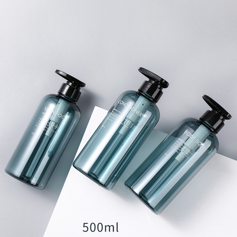 3PCS Refillable Bottle Press Type For Cosmetic Shampoo Shower Gel High-capacity 300/500ML