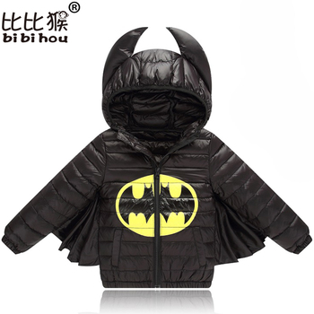 Baby Boys Girls Jacket Autumn Winter Warm Down Coat Jacket Batman Outerwear Christmas Children Kids Clothes Halloween Clothing