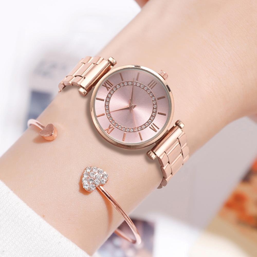 Women Brand Luxury Bracelet Ladies Watch With Rhinestone Clock Womens Vintage Fashion Bangle Wristwatch Relogio Feminino Gift