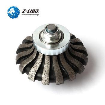 Z-LION Segmented Router Bit F20 M14 Thread Diamond Profile Wheel For Granite Marble Coutertop Make Edge Abrasive Grinding Wheel