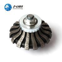 Z LION Segmented Router Bit F20 M14 Thread Diamond Profile Wheel For Granite Marble Coutertop Make Edge Abrasive Grinding Wheel