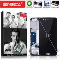 """5,5 """"OLED Für Oneplus 5 A5000 LCD Display Touch Screen mit Rahmen Digitizer Für OnePlus 5 Dispaly Für Eine plus 5 1 + 5 A5000 LCDs"""