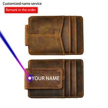Rfid Wallet Credit-Card-Case-Holder Money-Clip Magnetic Front-Pocket Male Slim Travel