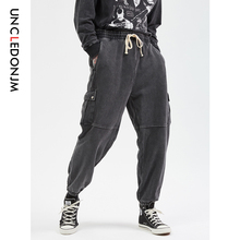 купить UNCLEDONJM Kanye Vintage Joggers Pants Men Urban Streetwear Sweatpants Vintage Casual Trousers Tapered Pants Pantaloons 569W по цене 2233.35 рублей