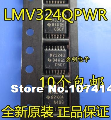 10pcs/lot LMV324QPWR MV324Q  TSSOP-14