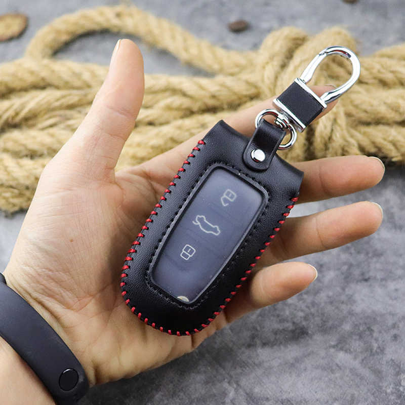 בעבודת יד אמיתי מכונית עור מפתח ארנק גברים מפתח מחזיק סוכנת בית Creative זוהרה חלון Keychain מכסה מותן נתלה מפתח מקרה
