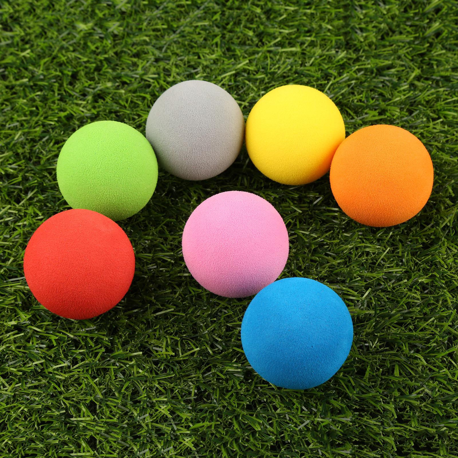 10Pcs/Lot EVA Foam Golf Balls Soft Sponge Balls for Outdoor Golf Swing Practice Balls for Golf/Tennis Training Solid 7 Colors 1