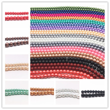 Round-Ball Charm-Beads Pearl-Spacer Jewelry-Making Glass Loose Wholesale DIY 4/6/8/10mm