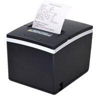 Usb ethernet serial três portas são integrados em uma impressora 80mm térmica pos impressora recibo bill impressora de corte automático