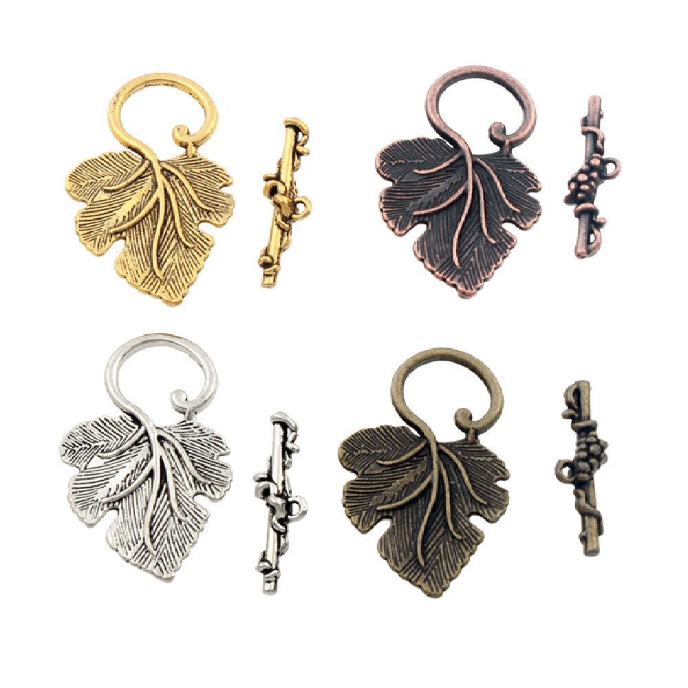 Jewelry & Access. ... Jewelry Findings & Components ... 32718554651 ... 1 ... Grape Leaf Alloy Toggle Clasp Jewelry Findings Fit Bracelets L872 7sets Antique Silver/Bronze/Copper/Gold ...