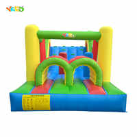 YARD Giant Inflatable Bouncy Castle Jumping Bounce House With Large Slide Large Trampoline Inflatable Bouncer Obstacle Slides