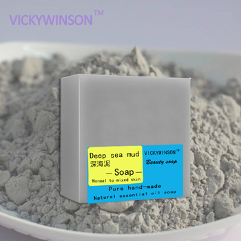 VICKYWINSON Deep-sea mud handmade soap Nourishing Skin Cold Soap Natural Essential Oil Deep Cleansing Handmade Whitening Soap недорого