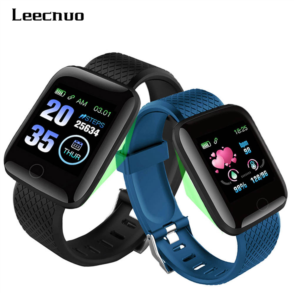 Leecnuo 116 Plus Smart Watch D13 Sports Smart Fitness Bracelet Blood Pressure Measurement Watches Pedometer Smart Wristband