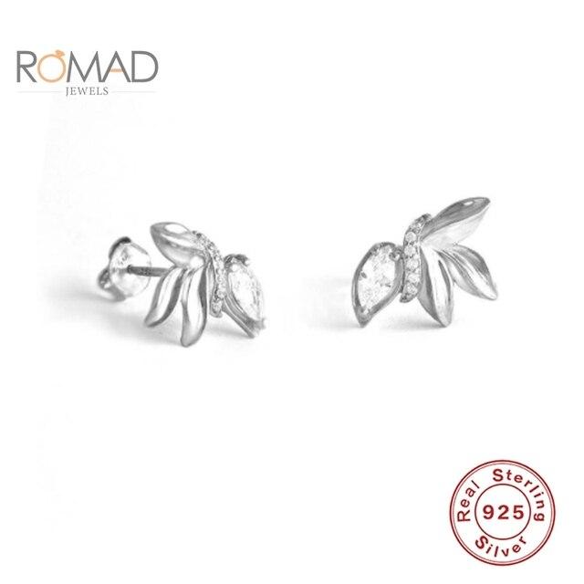Купить romad серьги гвоздики 925 стерлингового серебра милые мини маслина