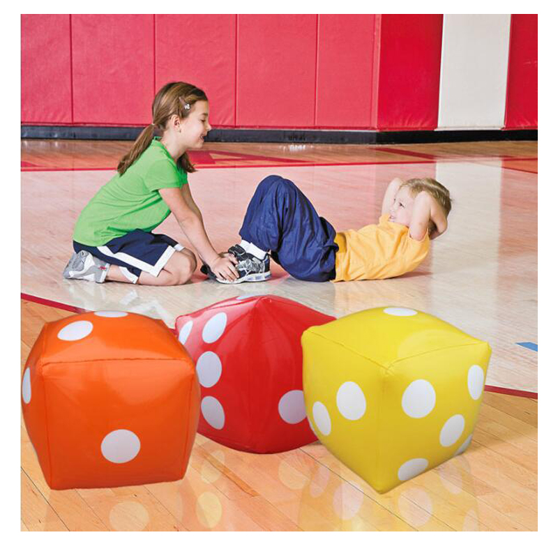 28cm Jumbo Blow Up Dice Inflatable Air Cube Pvc Playing Toy Carnaval Party Indoor Outdoor Water Park Toys For Kid Childrens