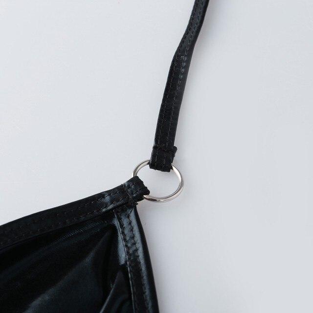 Exotic Black Leather Bodysuit  4
