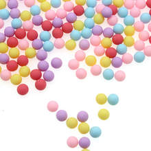 Акриловые шарики 2000 шт 6 мм без отверстия карамельного цвета