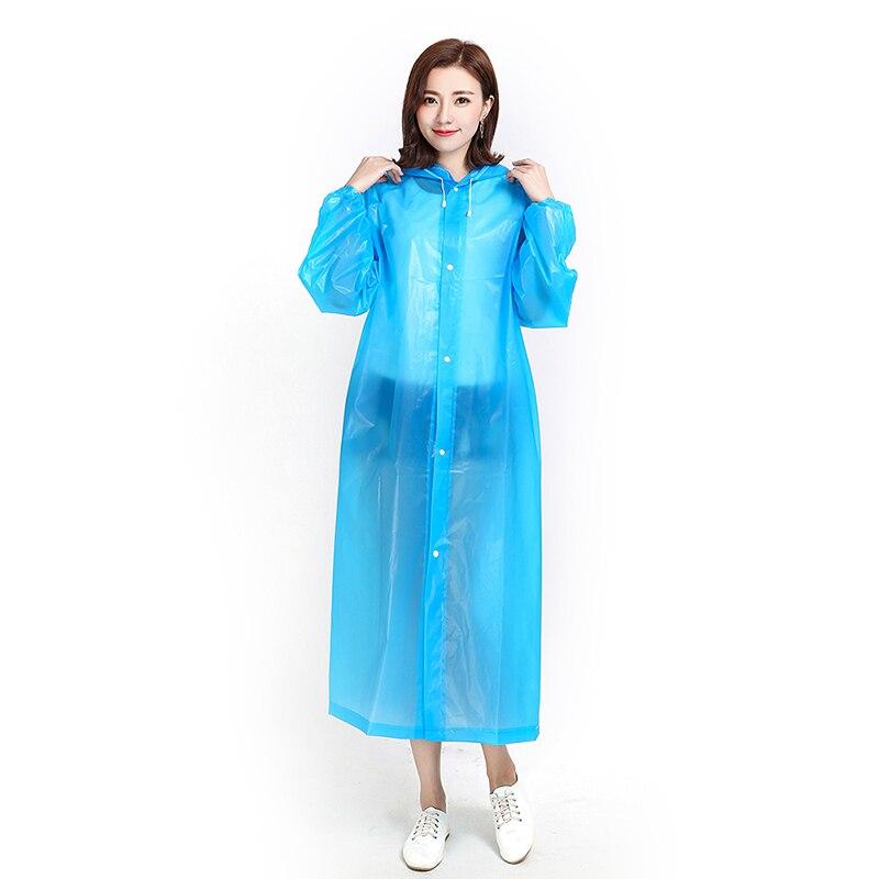 Модный дождевик из ЭВА для женщин и мужчин, утепленный водонепроницаемый плащ пончо, прозрачная Толстовка для взрослых, одежда для кемпинга, дождевик, костюм, 1 шт. Плащи    АлиЭкспресс