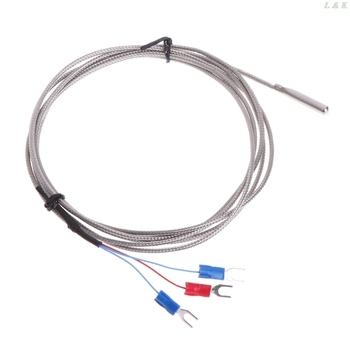 Termopara RTD PT100 ze stali nierdzewnej z 2m 3 przewody kablowe tanie i dobre opinie Shanwen PT100 Temperature Sensor NONE CN (pochodzenie) 4n45799 120 ° C i Powyżej DIGITAL Przemysłowe as shown Osadzone