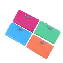 4pcs 17.5x11cm A6 Expanding File Folder 13 Pocket Document Holder with Tabs and Bungee Closure Business Folder Organizer