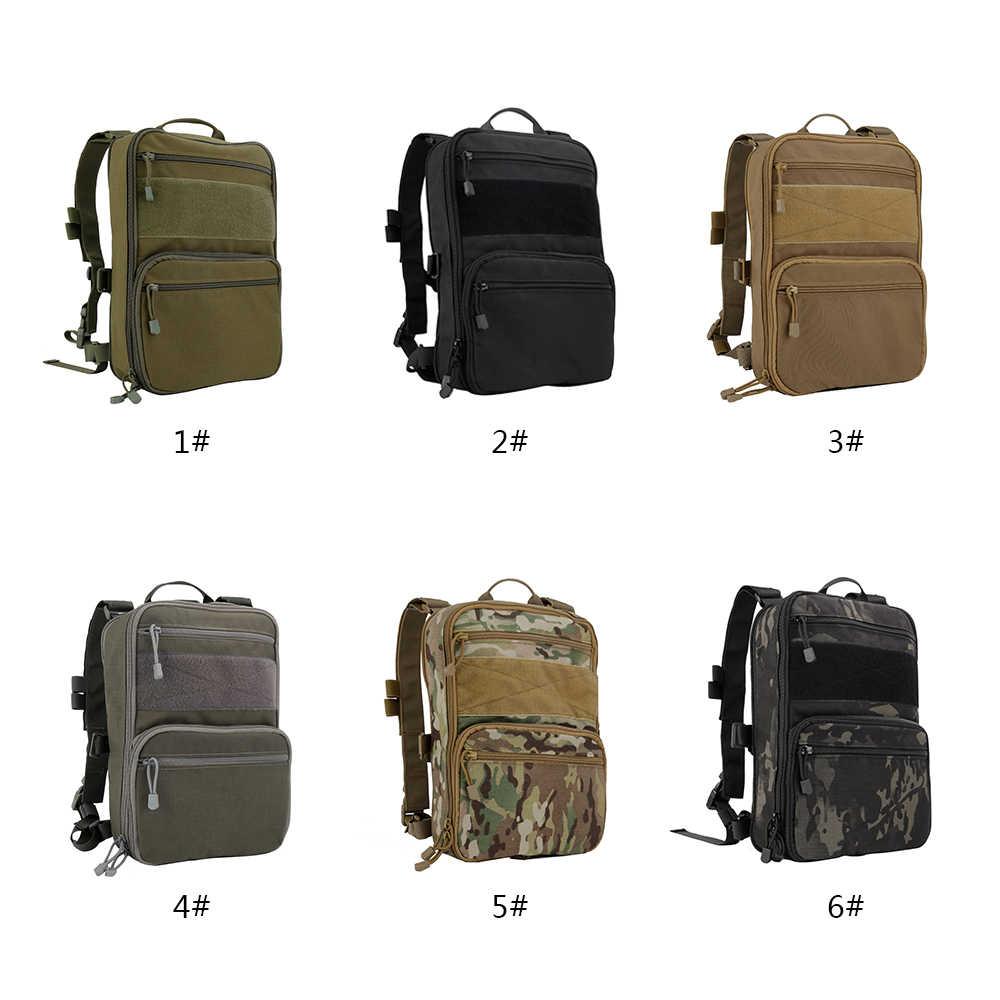 D3 Flatpack Taktik Ransel Hidrasi Membawa Serbaguna Gear Pouch Outdoor Perjalanan Air Paket Tas