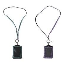 2 шт Стразы, блестящий кристалл, на заказ, ремешок, вертикальный держатель для удостоверения личности(светильник, синий и красный