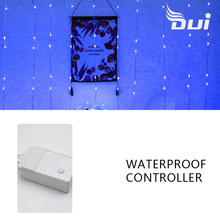 DUI Spring festival decoration water waterfall lights string courtyard LED color room layout star a hai